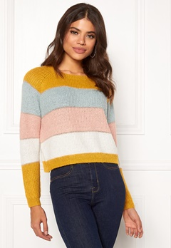 ONLY Malone Stripe Pullover Golden Yellow Bubbleroom.se