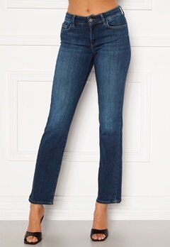 ONLY Malou Reg Life Straight Jeans Dark Blue Denim Bubbleroom.se
