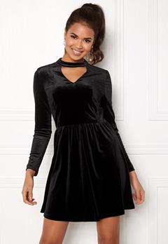 ONLY Mandy Choker Velvet Dress Black Bubbleroom.fi