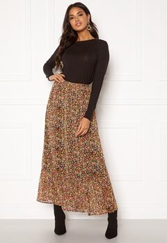 ONLY Mandy Maxi Skirt Black Multiflower Bubbleroom.se