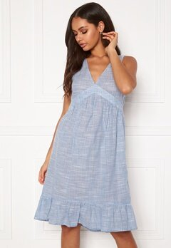 ONLY Margaery Life Denim Dress Light Blue Denim Bubbleroom.se