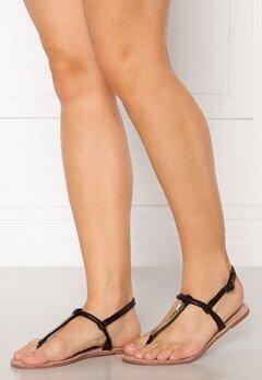 ONLY Margit PU Glitter Split Toe Sandal Black Bubbleroom.se