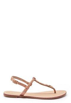 ONLY Margit PU Glitter Split Toe Sandal Nude Bubbleroom.se