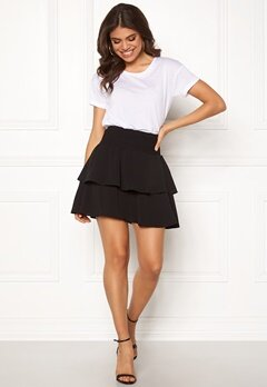 ONLY Mariana Myrina Layered Skirt Black Bubbleroom.se