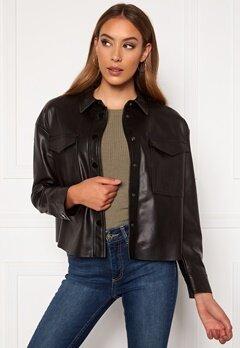 ONLY Marina Faux Jacket Black Bubbleroom.se
