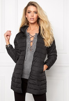 ONLY Marit Quilted Hood Jacket Black Bubbleroom.se
