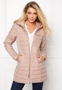 ONLY Marit Quilted Hood Jacket Warm Taupe Bubbleroom.se