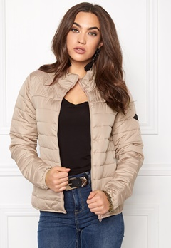 ONLY Marit Quilted Jacket Warm Taupe Bubbleroom.fi