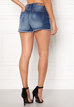 ONLY Mary Denim Shorts Dark Blue Denim Bubbleroom.fi