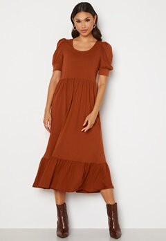 ONLY May Life S/S Puff Dress Arabian Spice Bubbleroom.se