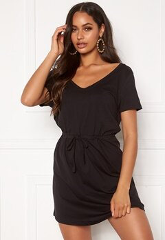ONLY May Life S/S Stripe Dress Black Bubbleroom.se