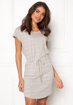 ONLY May S/S Dress Light grey stripes Bubbleroom.fi