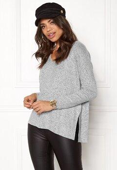 ONLY maye l/s v-neck pullover Light grey melange Bubbleroom.fi