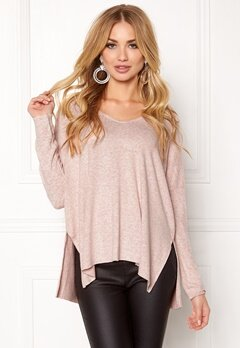 ONLY maye l/s v-neck pullover Rose Dawn Bubbleroom.fi