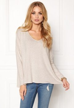 ONLY maye l/s v-neck pullover Whitecap Gray Bubbleroom.fi