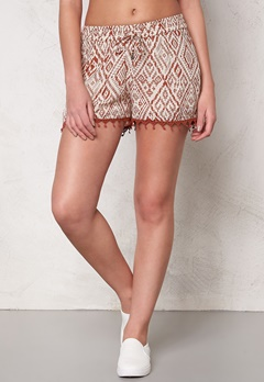 ONLY Mika Tribal Tiles Shorts Whitecap Gray Bubbleroom.fi