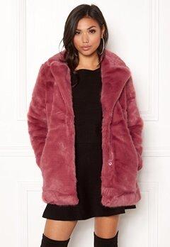 ONLY Milana Faux Fur Coat Baroque Rose Bubbleroom.se
