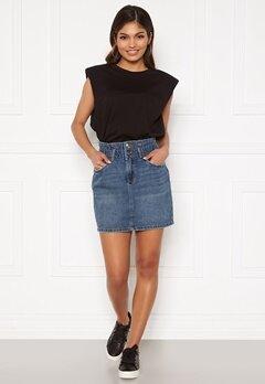 ONLY Millie Life HW Mini Paper Skirt Medium Blue Denim Bubbleroom.se
