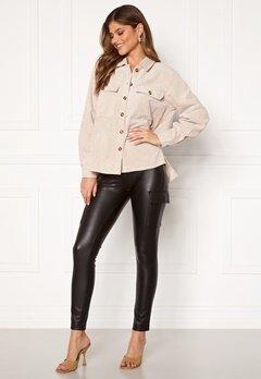 ONLY Miri Faux Leather Cargo Legging Black Bubbleroom.se