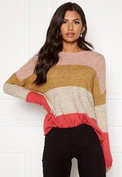ONLY Mirna Stripe L/S Pullover Rose Smoke Bubbleroom.se