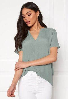 ONLY Molly SS V-Neck Chinois Green Bubbleroom.se