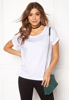 ONLY Moster s/s Top White Bubbleroom.se