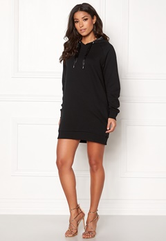 ONLY Mynte L/S Sweat Dress Black Bubbleroom.se