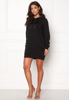 ONLY Mynte L/S Sweat Dress Black Bubbleroom.fi