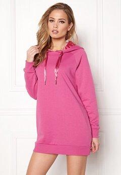 ONLY Mynte L/S Sweat Dress Super Pink Bubbleroom.se
