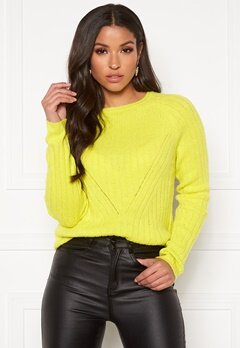ONLY Nadine L/S Pullover Knit Limeade Bubbleroom.se