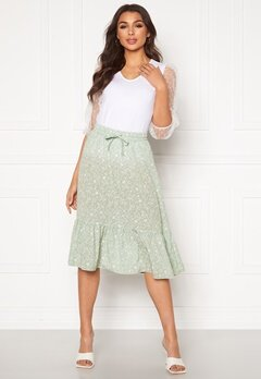 ONLY Nadja-Addiction Long AOP Skirt Frosty Green Bubbleroom.se