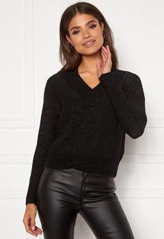 ONLY Naila L/S Glitter Pullover Black Bubbleroom.se
