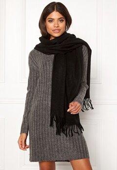 ONLY Nala Weaved Wool Scarf Black Bubbleroom.se