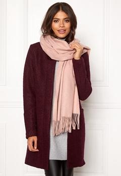 ONLY Nala Weaved Wool Scarf Misty Rose Bubbleroom.se