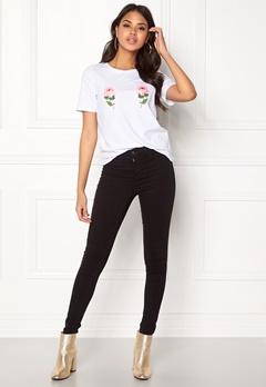 ONLY Nany S/S T-Shirt White Bubbleroom.se