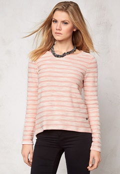 ONLY Naomi L/S Sweater Burnt Coral Bubbleroom.se