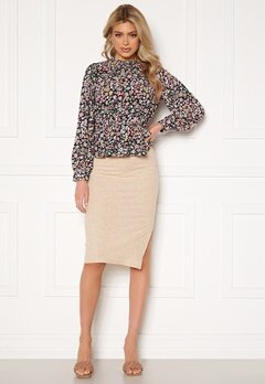 ONLY Nella Slit Skirt Pumice Stone Bubbleroom.se