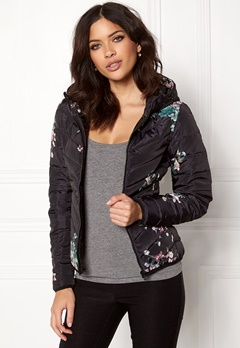 ONLY New Ash Quilted Jacket Black Bubbleroom.se