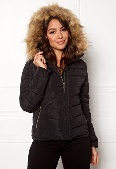 ONLY New Ellan Quilted Jacket Black Bubbleroom.se