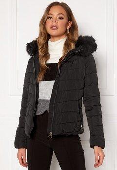 ONLY New Ellan Quilted Jacket Black Bubbleroom.se