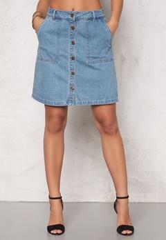 ONLY New Farrah A-Line Skirt Light Blue Denim Bubbleroom.fi