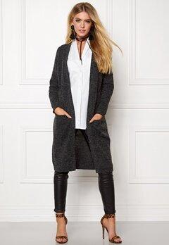 ONLY New Hayley L/S Cardigan Dark Grey Melange Bubbleroom.se