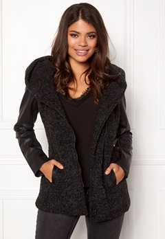 ONLY New Lisford Wool Coat Black Bubbleroom.se