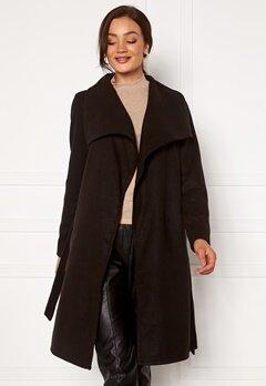 ONLY New Phoebe Drapy Coat Black Bubbleroom.se