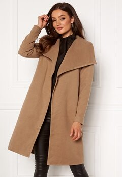 ONLY New Phoebe Drapy Coat Camel Bubbleroom.se