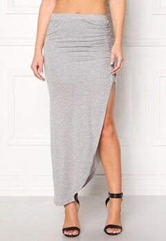 ONLY New Ria Skirt Light Grey Melange Bubbleroom.fi