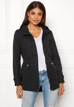 ONLY New Sophia Spring Parka Black Bubbleroom.se