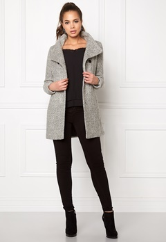 ONLY New Sophia Wool Coat Light Grey Melange Bubbleroom.fi