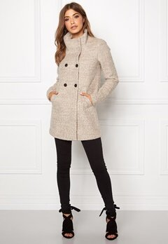 ONLY New Sophia Wool Coat Simply Taupe Bubbleroom.se
