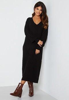 ONLY New Tessa L/S Midi V-Neck Dress Black Bubbleroom.se